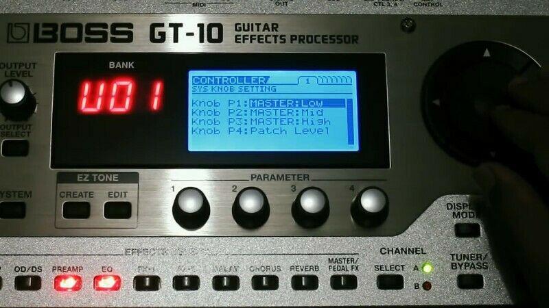 Procesador de efectos BOSS GT-10