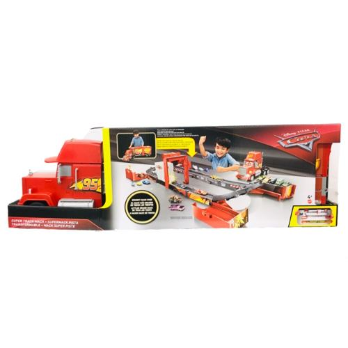 Cars Supermack Pista Transformable 90cm Luz Sonido Mattel