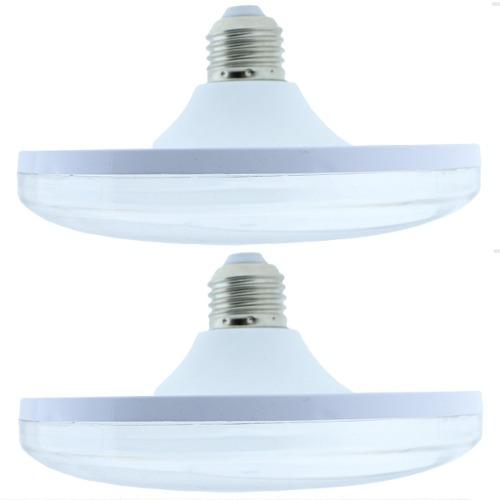 Foco Lampara Circular 24w Luz Blanca P/ Socket E27 2 Focos