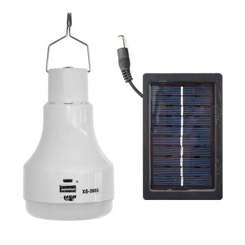 Foco Led Solar Recargable Portatil Camping Blanco 5w  /e