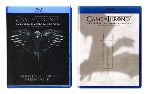 Game Of Thrones Juego Tronos Temporadas 3 4 Blu-ray