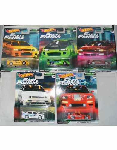 Hot Wheels Rápido Y Furiosos Set De 5pz Llantas De Goma