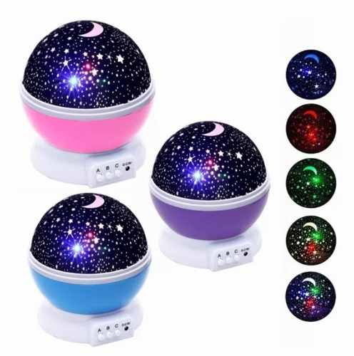 Lámpara Proyector De Estrellas Giratorias Para Niños O