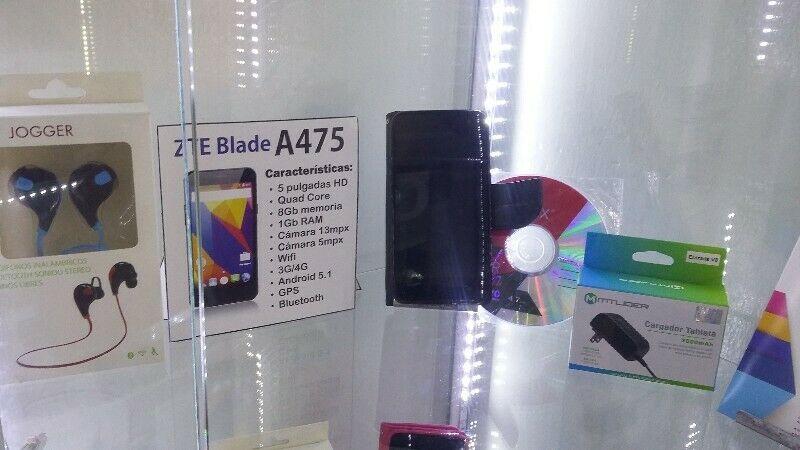 Smartphone ZTE Agb cámara 13mpx Audifonos BT y REGALOS