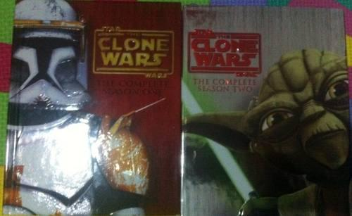 Star Wars Clone Wars Complete 1 & 2 Blu-ray + Sketchbooks