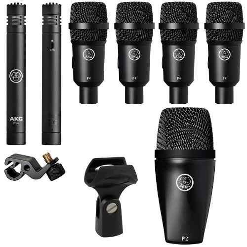Kit De 7 Microfonos Para Batería Drum Kit Session I Akg