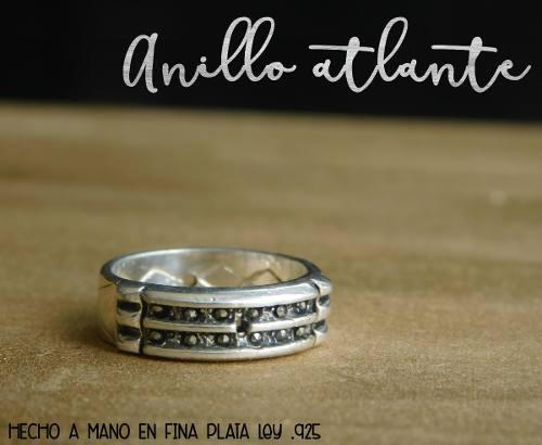 Anillo Atlante De Plata Con Marquesita