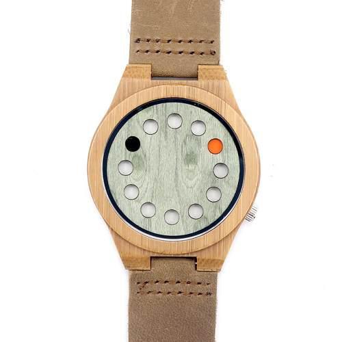 Bobobird Moda Casual Reloj Bambú Unisex Cuarzo