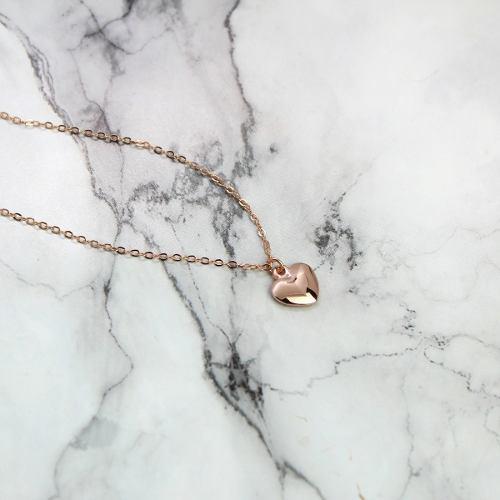 Collar De Corazón Regalo Para Pareja Chapa De Oro Rosa 22k
