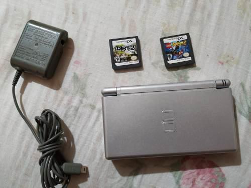 Consola Nintendo Ds Lite En Muy Buen Estado Con 2 Juegos