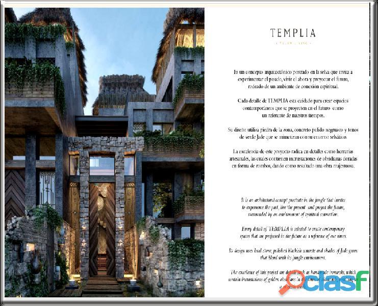 El proyecto templia concepto arquitectónico postrado en la