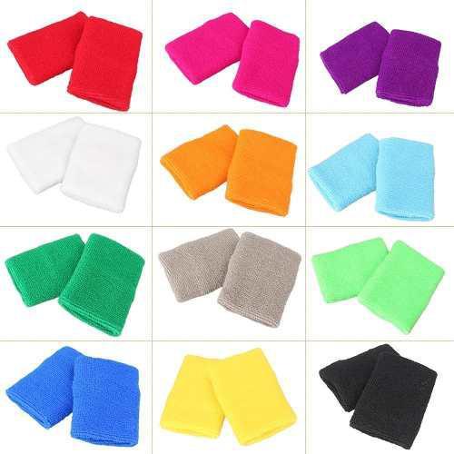 Gzyf 12 Pares Muñequeras De Colores Muñequeras De Tela De