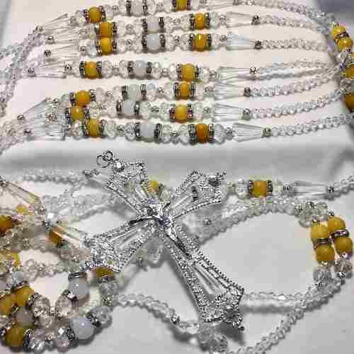 Lazo Para Novia Atrae Prosperidad Cristal Cortado Austriaco