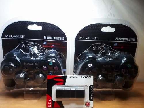 2 Controles Tipo Ps + Usb Con 8 Mil Juegos Para Pc Y Lap
