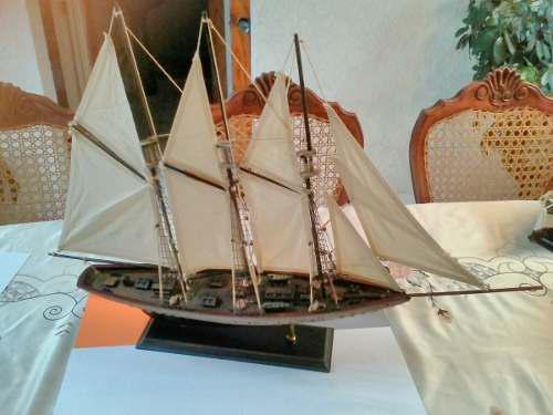 Barco De Madera 100% (goleta Del Siglo Xix) Tipo Antiguo