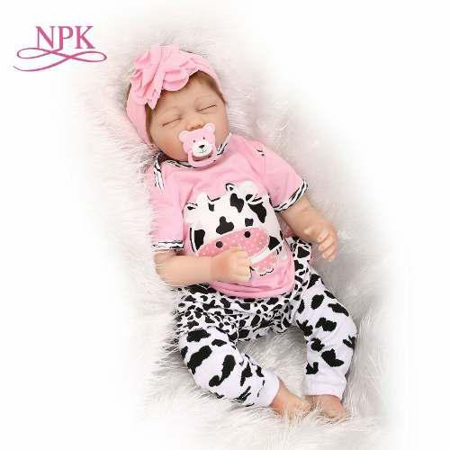 Bebé Reborn Muñeca Simulado Npk Silicona 55cm Venta Calie