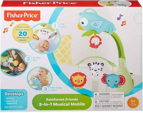 Fisher Price Movil Bebe Musical Amigos De La Naturaleza Full