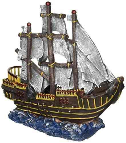 Penn Plax Camino De Pirata Ola Grande Barco De Tanque De Pec