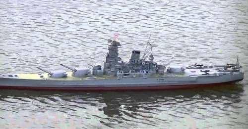 Yamato Tamiya 1:350 Con Sistema De Navegación Instalado