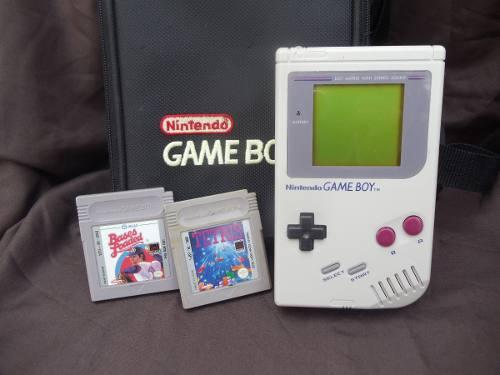 Game Boy Clásico Tabique Con Estuche Y Juegos