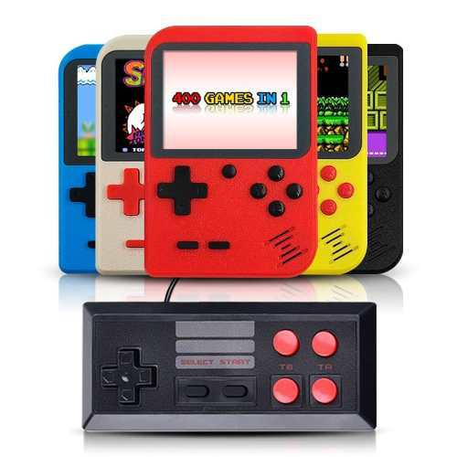 Mini Consola Portatil Retro 400 Videojuegos 8 Bit Control