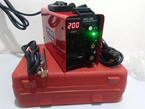 Soldadora Inversora 200 Amperes Roja