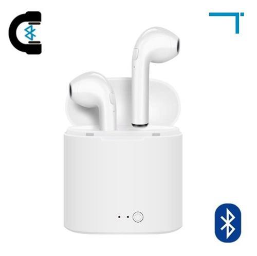 5 Audífonos Bluetooth Tipo AirPods Con Estuche I7s