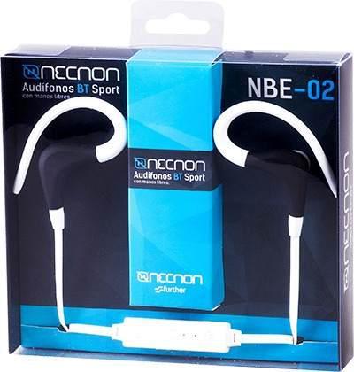 Audifonos Bluetooth Sport Necnon Nbe-02 Blanco