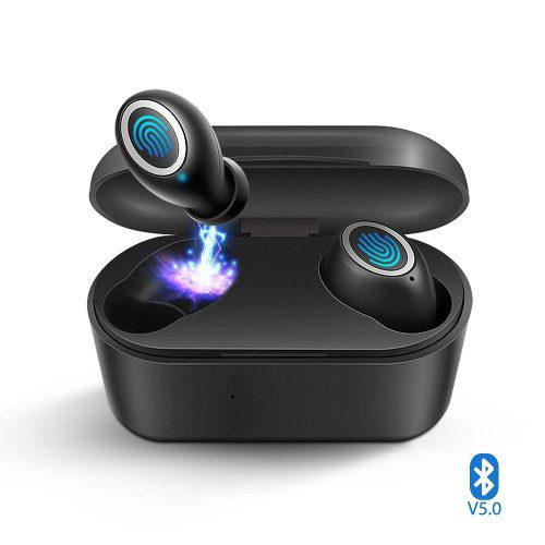 Audifonos Bluetooth Touch Manos Libres Base Carga Tws 5.0
