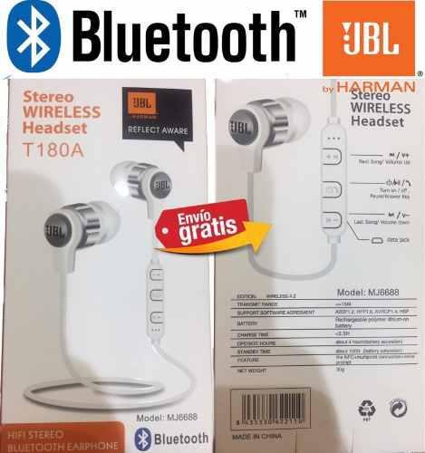 Audifonos Jbl Bluetooth Manoslibres Inalambricos Pod Tip Ear