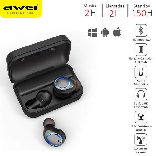 Awei T3 Tws Audifonos Bluetooth Manos Libres Samsung iPhone