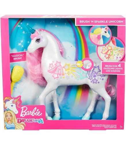 Barbie Dreamtopia Unicornio Brillante Luz Y Sonido Cepillo