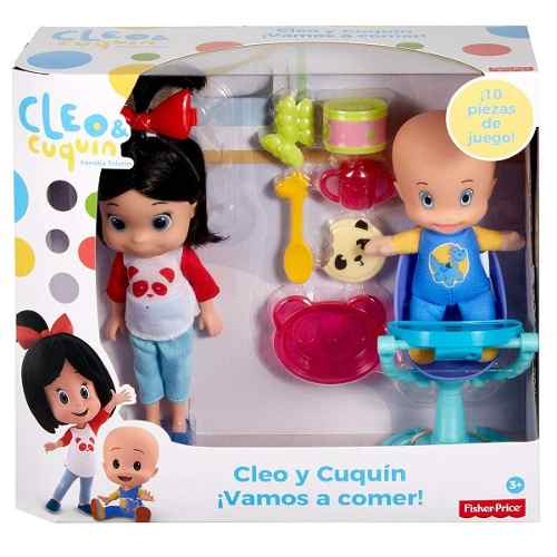 Fisher Price Cleo & Cuquin Vamos A Comer Familia Telerin