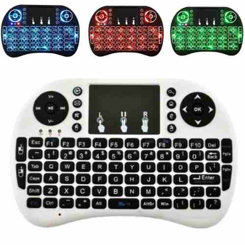 Mini Teclado Inalambrico Iluminado Smart Tv Box Android Pc