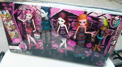 Monster High De Compras Pack De 5 Muñecas