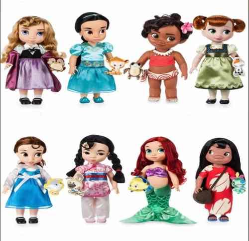 Muñecas Princesas Sirenita...animators Disney Store Una Por
