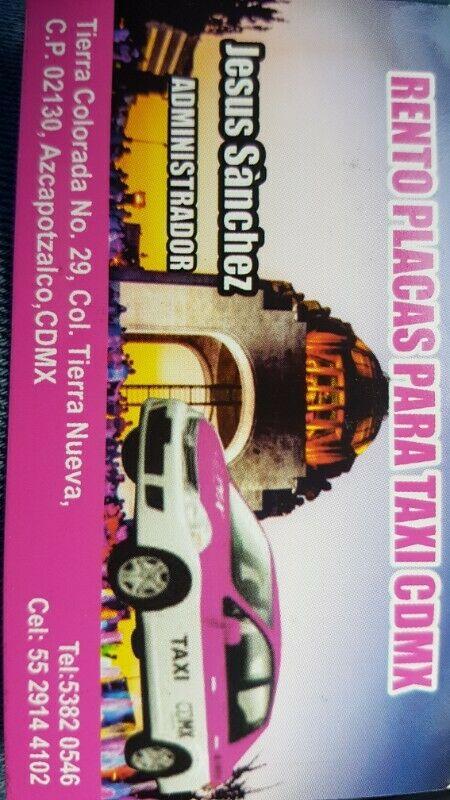 Rento placas de taxi cdmx