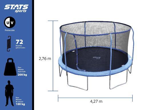 Trampolín Brincolín 14pies(4.27m)uso Rudo Ideal Para
