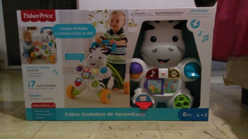 Cebra andadera fisher Price