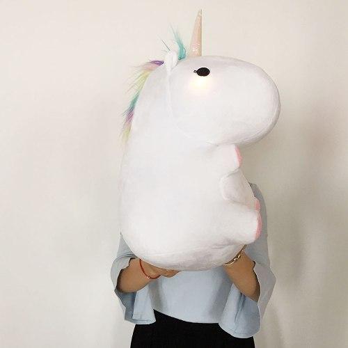 Mono De Peluche De Unicornio Con Luz Led Kawaii 35cm Nuevo