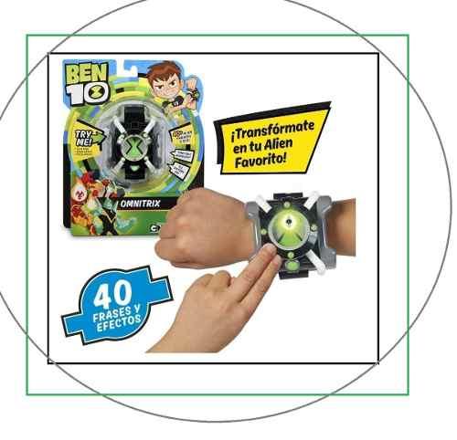 Omnitrix Reloj De Ben 10 Con 40 Sonidos Y Luces Español