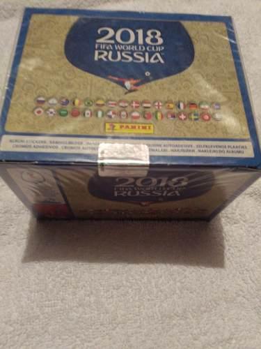 Caja Con 100 Sobres De Estampas Mundial De Rusia