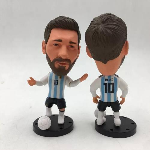 Figura Futbol Lionel Messi Uniforme Argentina  Y Balón