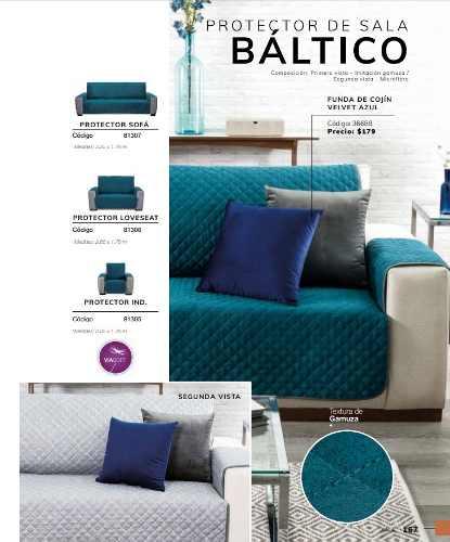 Juego Completo Protector Sala Baltico Azul 3 Piezas Vianney