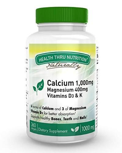 Mg De Calcio Y 400 Mg De Magnesio Con Vitamina D3 Y K (