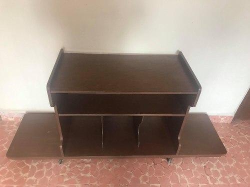 Mueble Antiguo Para Televisión Y Discos (70s)