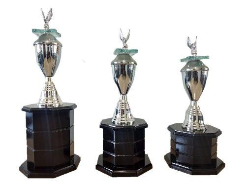 Tercia De Trofeos Estilo Universal Para Cualquier Deporte