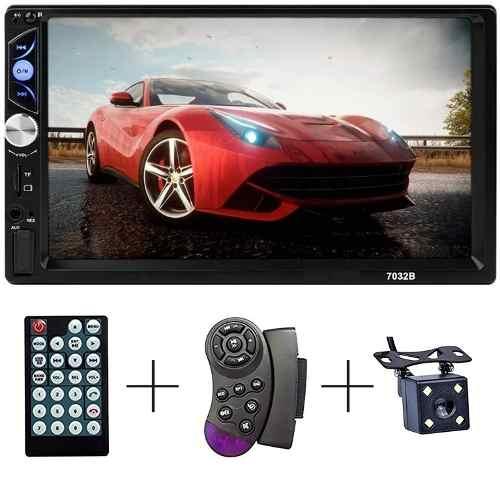 Auto Estereo Bluetooth Pantalla Control De Volante + Camara