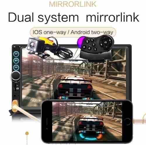 Auto Estereo Mirror Link iPhone O Android Cámara Y Control