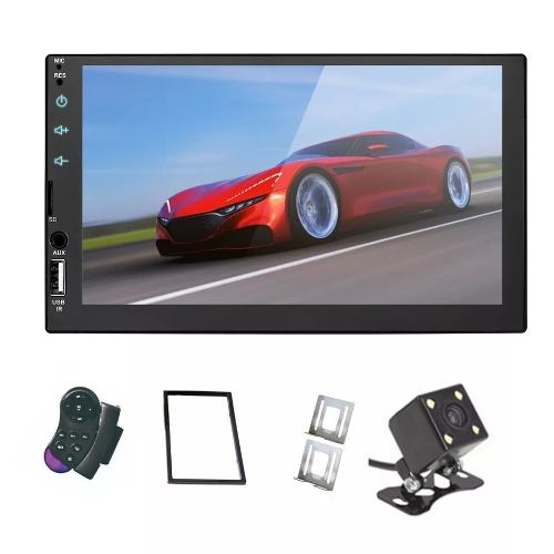 Auto Estereo Touch Bluetooth Mirror Link Para Android Camara